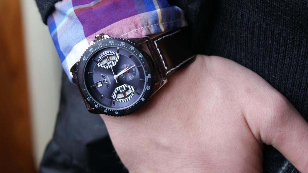 Мужские механические часы Winner F1 с синим циферблатом