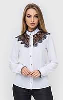 Женская белая классическая рубашка с черным кружевом 45BL175 340, фото 1