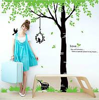 Наклейка виниловая Дерево