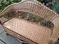 Плетеный диван кофейный большой, фото 1