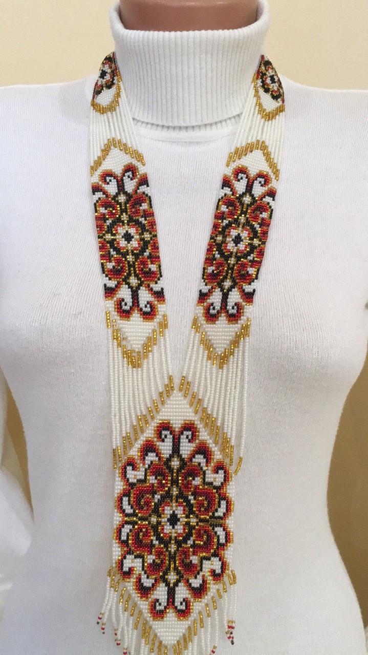 Гердан намисто українське з бісеру ручної роботи 54 7  продажа 0f760402e1abe