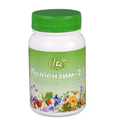 Полиэнзим - 2.1  - 140 г   гепатопротекторная формула - Грин-Виза // Гепатопротектор , для печінки та жовчного