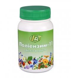 Полиэнзим-11 — 140 г — детская иммуномодулирующая и общеукрепляющая формула - Грин-Виза, Украина