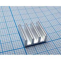 10x Алюминиевый мини-радиатор 11х11х5 мм