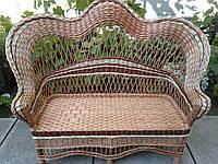 Плетеный диван прямой  натуральный
