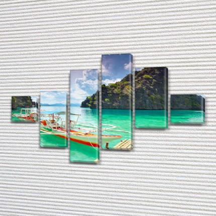 Купити картину модульную на Холсте син., 75x120 см, (18x18-2/40х18-2/65x18-2), фото 2
