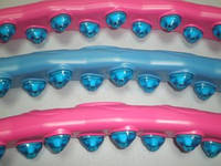 Обруч Хула-хуп, для похудения, с магнитами, состоит из 2-х рядов