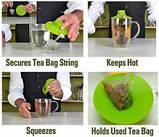 Силіконова кришка-вижималка Tea Bag Buddy, фото 4