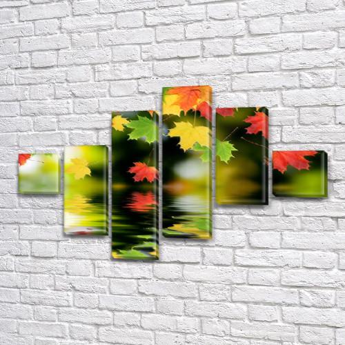 Картины для спальни на холсте фото, на Холсте син., 75x120 см, (18x18-2/40х18-2/65x18-2)