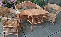 Набор плетеной мебели из лозы для отдыха, фото 1