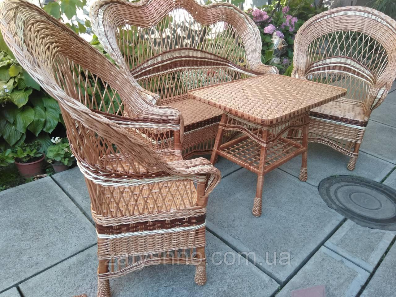 Комплект садовой плетеной мебели