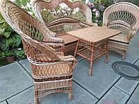 Комплект садовой плетеной мебели, фото 1