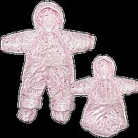 Детский демисезонный (осенний,весенний) комбинезон-трансформер на флисе р.80, как конверт р.68