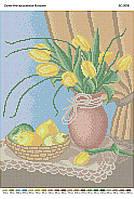 """Схема для вышивки бисером """"Тюльпаны и груши"""""""