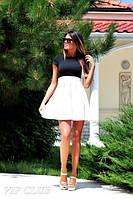 Женское Платье верх черный низ белый