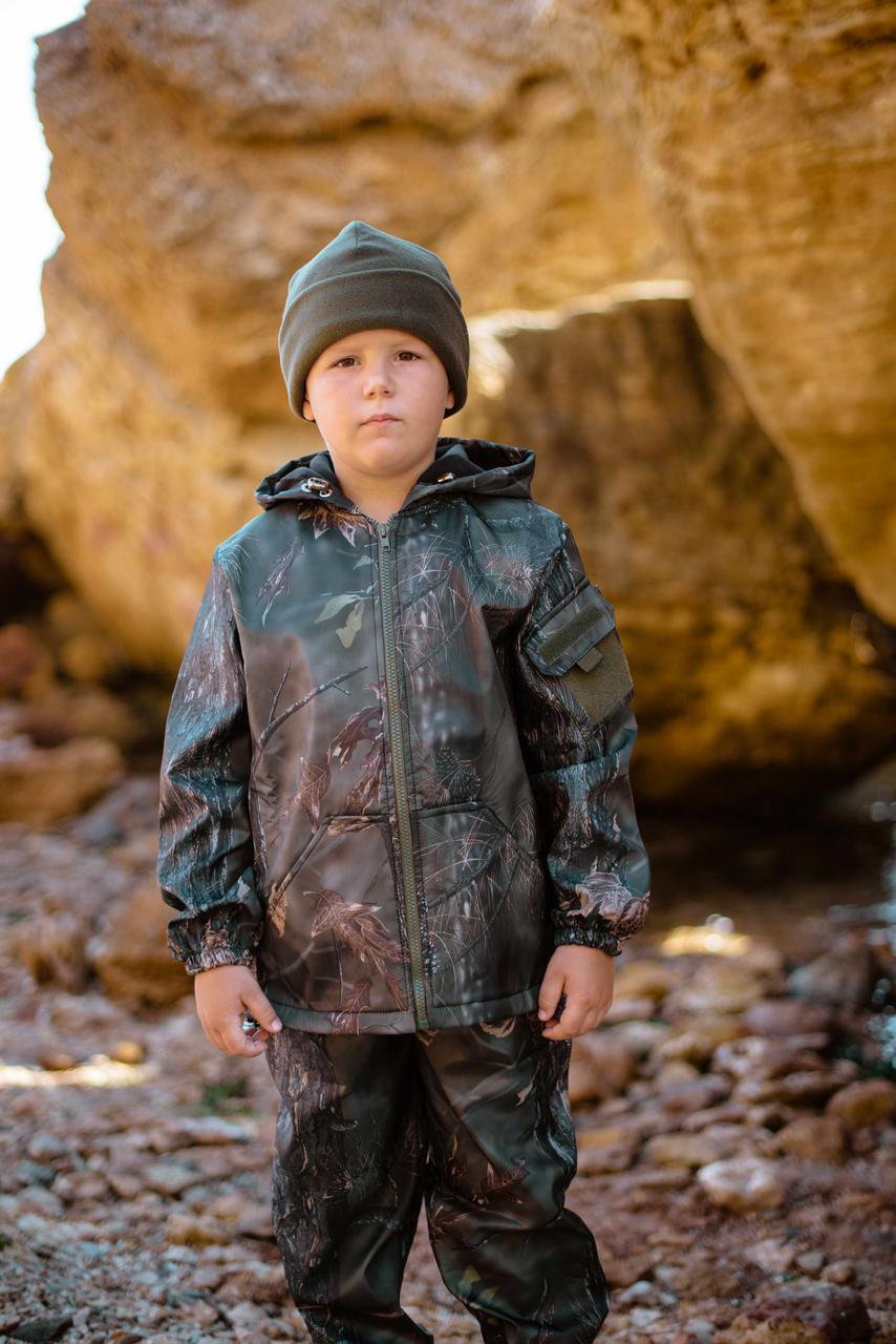 Детский камуфляж костюм для мальчиков Лесоход цвет Лес на флисе