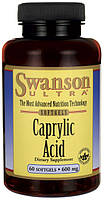Лечение кандидоза (молочницы) - Каприловая кислота (Caprylic Acid), 600 мг 60 капсул