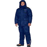 """Зимний костюм """"Буран v.2"""" (- 40°С) для охоты и рыбалки синий."""