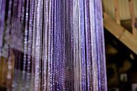 Шторы нити Радуга Дождь1+12+205 (белый+сиреневый+фиолетовый)