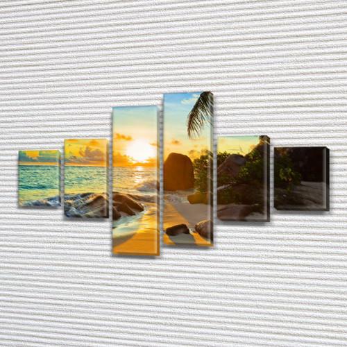 Модульные картины фото на Холсте син., 70x120 см, (25x18-2/35х18-2/65x18-2)