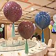 Повітряні латексні кулі супер агати павич фіолетовий 45см, фото 3