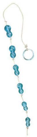 Анальная цепочка Peanuts on a String, голубая, фото 2