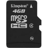 Карта памяти Kingston Micro SDHC 4Gb class 4