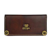 Кошелек, бумажник, портмоне Gato Negro Alfa Brown ручной работы