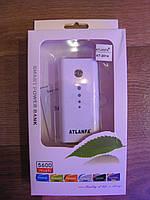 Внешняя батарея аккумулятор для смартфонов телефонов Power Bank Atlanfa AT-2014 5600 mAh
