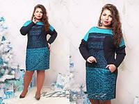 Платье женское турецкий трикотаж батал, фото 1