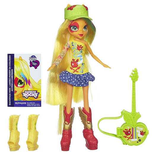 My Little Pony Equestria Girls Applejack Doll with Guitar (Май Литл Пони Кукла Эпплджек с гитарой)