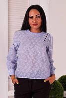 Рубашка женская коттоновая со шнуровкой (К23624), фото 1