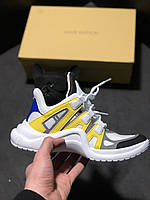 Женские кроссовки в стиле Louis Vuitton LV Archlight Sneaker White Yellow