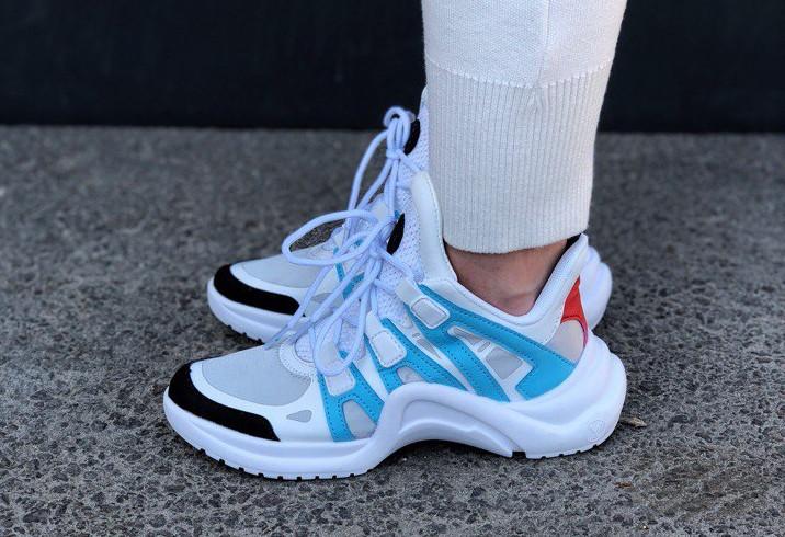 Женские кроссовки в стиле Louis Vuitton LV Archlight Sneaker Azure