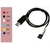 USB FTDI FT232RL - RS232 TTL 6pin адаптер Arduino