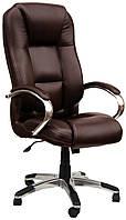 Кресло Сивилья Хром кожзам Мадрас PU коричневый (однотонный)