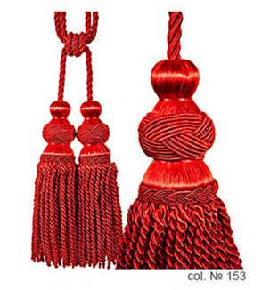 Декоративные кисти для штор, подвязки Бархатный Красный, фото 2