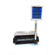 Торговые электронные весы до 50 кг 208 + стойка, фото 3