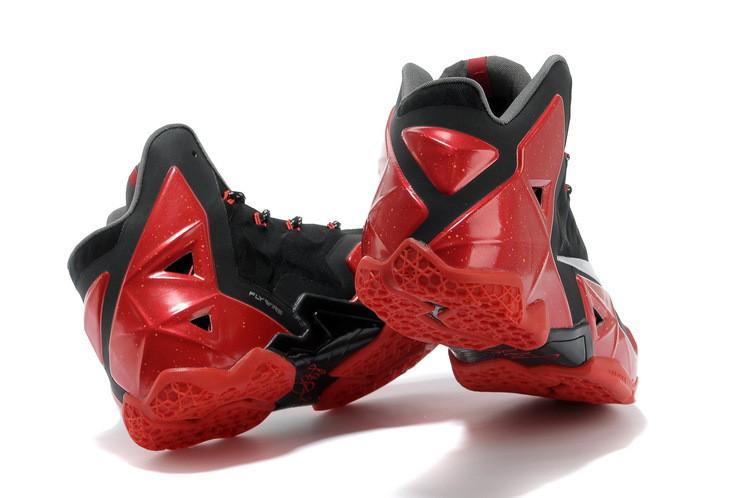 ... Мужские баскетбольные кроссовки Nike Lebron 11 Miami Heat Black Red,  фото 5 0f90a389475