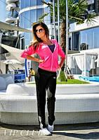 Спортивный костюм женский малиново черный, фото 1