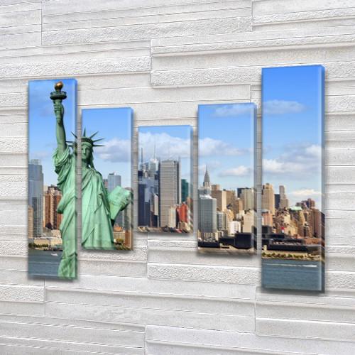 Картины купить модульные на Холсте син., 80x100 см, (80x18-2/55х18-2/40x18)
