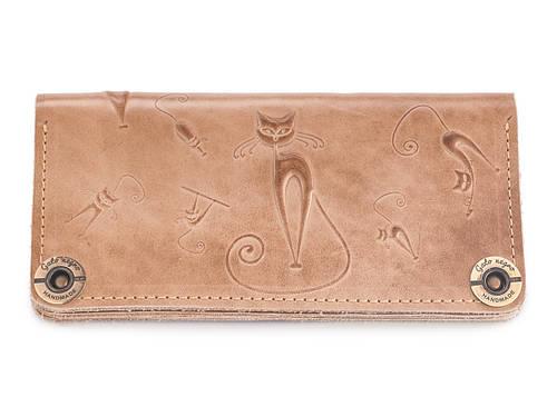 092644843868 Купить Кошелек кожаный, бумажник, женский Gato Negro Catswill Ivory ручной  работы в Львове от компании