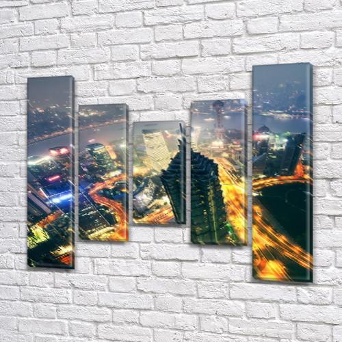 Интернет магазин картин купить модульную картину на Холсте син., 80x100 см, (80x18-2/55х18-2/40x18)