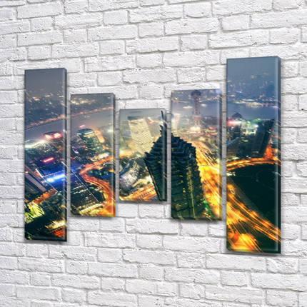 Интернет магазин картин купить модульную картину на Холсте син., 80x100 см, (80x18-2/55х18-2/40x18), фото 2