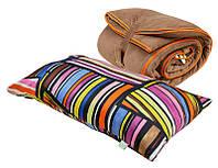 Спальный мешок+подушка bq Шаржей Коричневый (7-1001101)