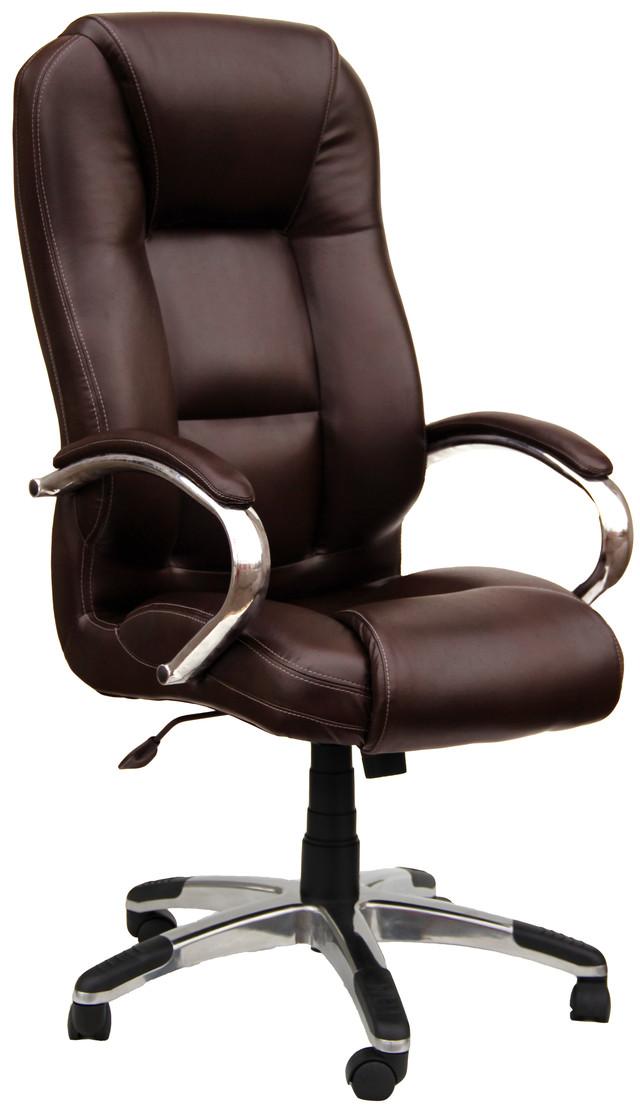 Кресло Севилья Хром кожзам Мадрас PU коричневый (однотонный).