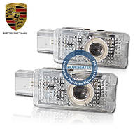 Porsche LED welcome light with LOGO