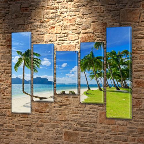 Картины на кухню фото, на Холсте син., 80x100 см, (80x18-2/55х18-2/40x18)