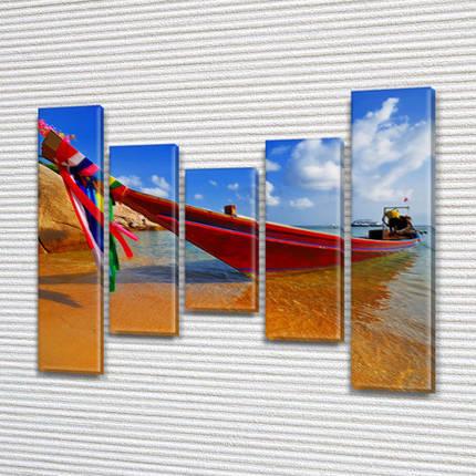 Картины для спальни на холсте фото, на Холсте син., 80x100 см, (80x18-2/55х18-2/40x18), фото 2