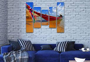 Картины для спальни на холсте фото, на Холсте син., 80x100 см, (80x18-2/55х18-2/40x18), фото 3